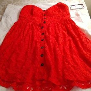 Orange Lacey Trixxi dress from Macy's